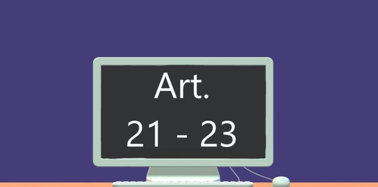Art. 21 - 23 DSGVO